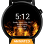 icon Flames Watch Face - Smartwatch