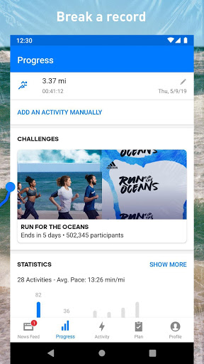 Runtastic Running & Fitness Tracker für Huawei P9 Lite