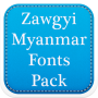 icon Zawgyi Myanmar Fonts Pack